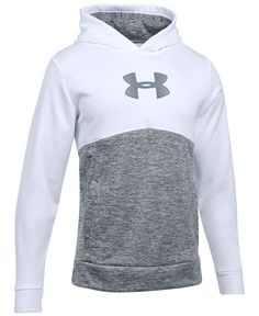 The classic hoodie is revamped with standout style as well as performance in this Under Armour design, featuring water-repellent Storm technology plus cozy Armour Fleece. | Polyester | Machine washabl