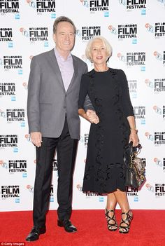 Helen MIrren and Bryan Cranston 8 Oct 2015 in London