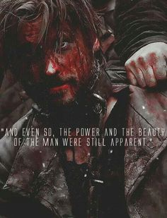 """(GoT) + (Jamie Lannister) + (""""And even so, the power and beauty of the man were still apparent."""")"""