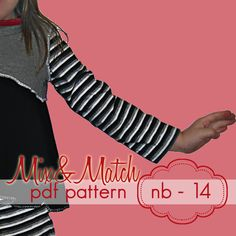 Mix & Match patterns are completely interchangeable and can be combined in endless varaiations ... this is only for the SLEEVES, the bodice and the dress bottom are not included. Includes the short, 3/4 and the long sleeve options. These sleeves can be paired with any of our set-in sleeve bodices, or also with the Classic Knit Tee, the Ruffle Tee, or the Simple Shrug. www.jocole.net #jocolepatterns #mix&match #sleeves