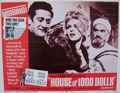 House Of 1000 Dolls Lobby Card #8, 1967, $7