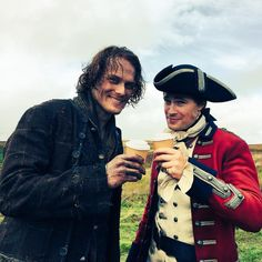 Lord Gray owes Jamie a hot cup of coffee after pulling him behind his horse for three days... ;)