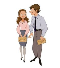 Gobeur,  the Office, Jim and Pam, fanart