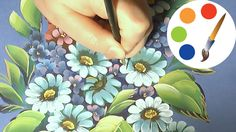One Stroke, Paint a White daisies, Como dibujar  la manzanilla , irishkalia