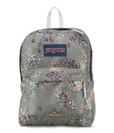 JanSport Superbreak Backpack - Shady Grey Sprinkled Floral