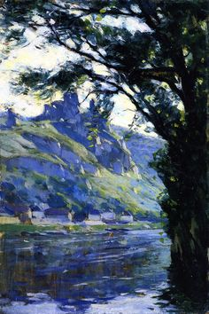 Clarence Gagnon - Summer Day, Les Andelys, Normandy 1910. I keep coming back to look at this one - blows me away!