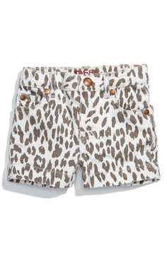 leopard print baby shorts