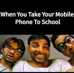 Bringing Mobile Phone In Junior School Latest Funny Jokes, Very Funny Memes, Funny Jokes In Hindi, Funny School Memes, Some Funny Jokes, Funny Relatable Memes, Hilarious Memes, Funniest Memes, Funny Pics