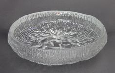 "Tapio Wirkkala - Glass bowl ""Lunaria"" for Iittala."