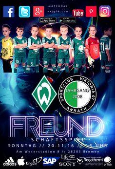 """Wir freuen uns heute mitteilen zu können, dass wir am kommenden Sonntag um 13 Uhr beim SV Werder Bremen gegen die U9 spielen können. Wir möchten uns ganz herzlich bei Christian Vander dafür bedanken, dass er sich für das Freundschaftsspiel stark gemacht hat. Wir fühlen uns sehr geehrt, dass wir ihn als ein """"Anrather Jong"""" in Bremen mit unserer Mannschaft vertreten dürfen. Erfahre mehr über uns unter vajg08.com."""