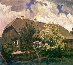 Ferdynand Ruszczyc - Dom w Bohdanowie, 1901