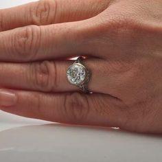 Leigh Jay Nacht Inc. - Art Deco Engagement Ring - 1R254