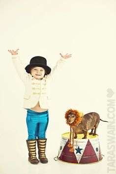 Circus cutie !!  Learn about the camera with photo sessions ... Include your furry kids :)