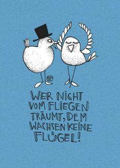 ♥♥♥ Postkarte Larifari Wer nicht vom Fliegen...♥♥♥ - http://1pic4u.com/2015/09/09/postkarte-larifari-wer-nicht-vom-fliegen/