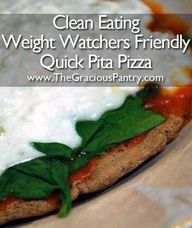 Clean Eating Weight Watchers Friendly Quick Pita Pizza