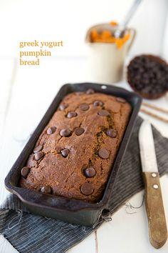 Pumpkin banana bread, Banana bread and Greek yogurt on Pinterest