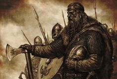 A jarl and his men before the clash with rivals