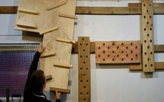We built a peg board and cliffhanger that's adjustable using a french cleat - thanks to /r/DIY for helping! (x-post from /r/anw)