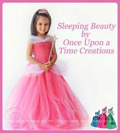 Aurora Inspired Princess Tutu Dress - Halloween Costume