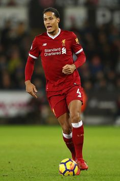 SWANSEA, WALES - JANUARY Virgil van Dijk of Liverpool during the Premier League match between Swansea City and Liverpool at the Liberty Stadium on January 2018 in Swansea, Wales. (Photo by Michael Steele/Getty Images) Premier League News, Premier League Soccer, Premier League Matches, Liverpool Fc, Liverpool Players, Van Djik, Michael Steele, Virgil Van Dijk, You'll Never Walk Alone