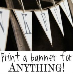 print letters to make a banner