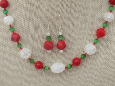 Choice of Necklace Earrings or Bracelet Christmas by jazzybeads