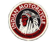 """Indian 3 inch """"America's First Motorcycle"""" patch"""