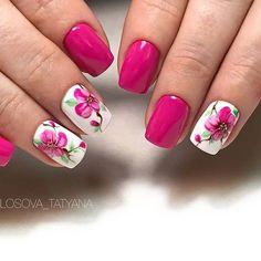 Flower Nails, Aga, Cute Nails, Nail Art Designs, Nailart, School, Flowers, Summer, Pink Manicure