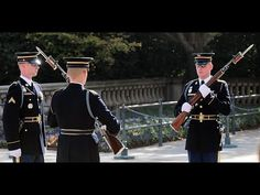 Soldiers assigned to the Infantry Regiment, The Old Guard, conduct a change of guard at the Tomb of the Unknown Soldier at Arlington National Cemetery, A. Military Men, Military History, Tomb Of Unknown Soldier, American Pride, American Legend, American History, National Cemetery, Army Veteran, American Soldiers