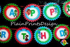 PJ Mask Banner by PlainPrintsDesign on Etsy