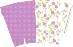 Caixa Pipoca Floral Lilás: