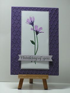 """By Cathy. Uses """"Fresh Daisies"""" die and fan embossing folder."""
