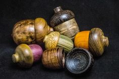Beautiful acorn trinket boxes handcrafted by Lanchi Vo of Elvio Design #woodworking