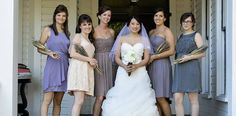 Lavender Bouquets - Brian Mullins Photography - NC Wedding Planner - Orangerie Events