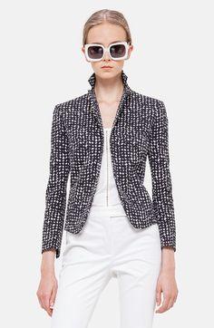 Akris Punto Jacquard Peplum Jacket on shopstyle.com