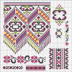 Cross Stitch Borders, Cross Stitch Charts, Cross Stitch Designs, Cross Stitching, Cross Stitch Patterns, Diy Embroidery, Cross Stitch Embroidery, Embroidery Designs, Fair Isle Knitting Patterns