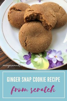 Ginger Snap Cookie Recipe From Scratch Cute Christmas Cookies, Christmas Cookie Exchange, Cookie Recipes From Scratch, Recipe From Scratch, Meringue Frosting, Ginger Snap Cookies, Ginger Snaps, Mocha, Sweet Treats