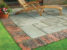 Brick Patio Edging Ideas Antique Bricks