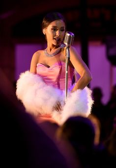Ariana Grande performs at the 2016 MTV Movie Awards.