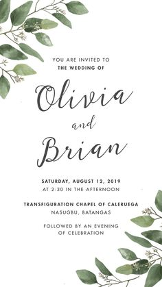 Wedding Ideas Discover Greenery Save The Date Wedding Invitation Engagement Invitation Cards, Wedding Invitation Card Template, Wedding Invitation Templates, Invitation Card Design, Online Wedding Invitation, Electronic Wedding Invitations, Online Invitations, Digital Invitations, Wedding Invitations With Pictures