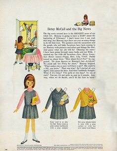 betsy mccall and her adventures.  paper dolls from the mcall magazine.  loved these!