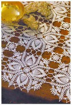 Crochet Art: Crochet Patterns Of Lace Tablecloth - Gorgeous