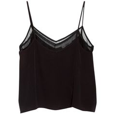 Mango Double Layer Vest Top, Black ($16) ❤ liked on Polyvore