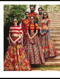 Vogue India - April 2015 Those skirts are adorable! Saris, Lehenga Designs, Indian Attire, Indian Wear, India Fashion, Asian Fashion, Indian Dresses, Indian Outfits, Sabyasachi Collection