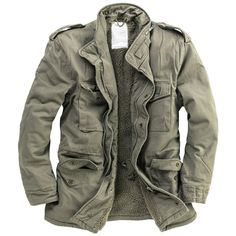 Details about Surplus Paratrooper Winter Mens Jacket Army Military Field Coat Olive Washed Vintage Leather Motorcycle Jacket, Military Fashion, Mens Fashion, Military Clothing, Fashion Trends, Cool Outfits For Men, Army Clothes, Vert Olive, Army Shirts