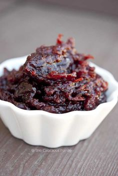 Clean Eating Slow Cooker Cranberry Sauce from The Gracious Pantry #SlowCookerThanksgiving