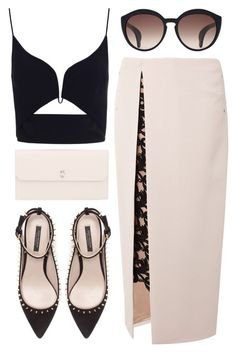 """Blind date"" by ruska-10 ❤ liked on Polyvore featuring Marios Schwab, Zimmermann, Yves Saint Laurent, Zara and Valextra"