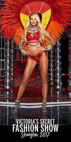 Candice Swanepoel wearing the Very Sexy High-neck Bra & the Very Sexy Cheekini. | 2017 Victoria's Secret Fashion Show