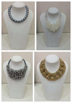 Which necklace fits like a glove to little black dress?  1. Classic pearls in style of Chanel 2. The Snow Queen necklace  3. Silver shiny flowers  4. Gold stylish handmade necklace with small and big stones
