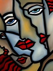 Art: Premium Blend by Artist Thomas C. Fedro Art: Premium Blend des Künstlers Thomas C. Tableau Pop Art, Abstract Face Art, Mosaic Portrait, Mask Drawing, Charcoal Art, Medical Art, Artist Portfolio, People Art, Gravure